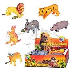 Животные дикие 7215, 6 видов, 12 шт в дисплее, 28-15-9см