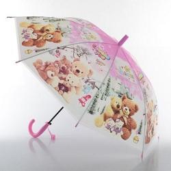 Зонтик детский MK 0528 длина54см,трость67см,диам.85см,спица48,5см,клеенка,6видов