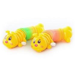Заводная игрушка Гусеница с пружинкой, 992 B, 2 цвета, в кульке, 13-4-4,5см