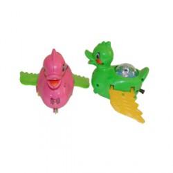 Заводная игрушка Уточка 0658 в кульке 3 цвета 14-13-8см