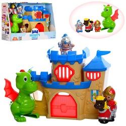Замок 32904 18-22-8,5см, дракон 13,5см, фигурки 3шт- 6см,, в кор-ке, 34-23,5-10см