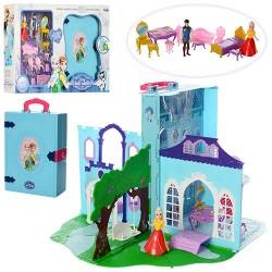 Замок LM2348 FR, принцессы,в книге-чемодане,32-43-43см,мебель,фигурки 2шт,в кор,53,5-36-10см