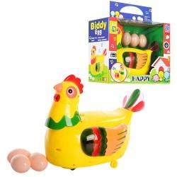 Курица 20215 несет яица, муз, на бат-ке, в кор-ке, 23-18-12см