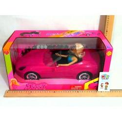 Кукла DEFA 8228 в машинке, в кор-ке, 42,5-20-21см