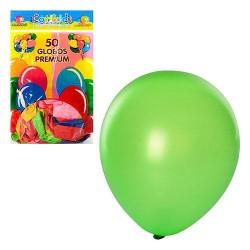 Шарики надувные MK 0012 (10 дюймов, микс цветов, 50шт в кульке, 19-28-1см