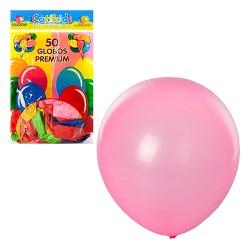 Шарики надувные MK 0014 (12 дюймов, яркий, микс цветов, 50шт в кульке, 18,5-28-1см