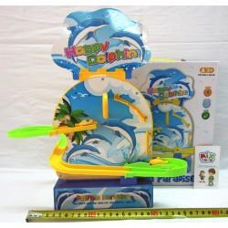 Игра Дельфин музыкальная горка BY728 на магнитиках в коробке 22-26см