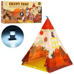Палатка M 3770 вигвам, 100-100-130см, на колыш,1вх,2окна,светильник,свет,в кор-ке,56-26-6см