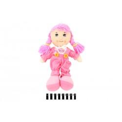 Кукла мягкая музык. 3 вида R0114F р.36х21см.