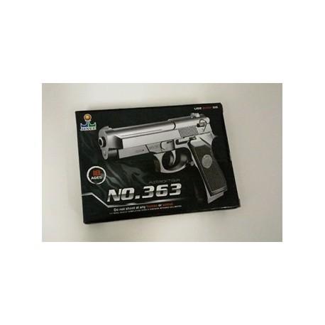 Пистолет 363 пульки в коробке 16*11см