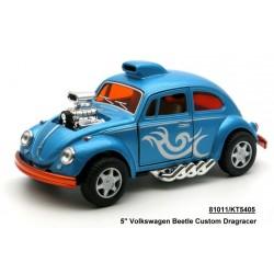 """Модель легковая KT5405W  5"""" Volkswagen Beetle Custom-Dragracer метал.инерц.откр.дв.4цв.к"""