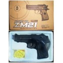 Пистолет ZM21 с пульками метал.кор.ш.к.