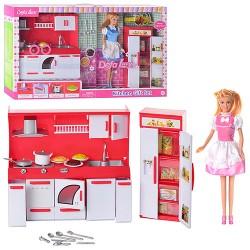 Кукла DEFA 8085 с кухней 2 вида.свет.в кор-ке,60-35-9.5см