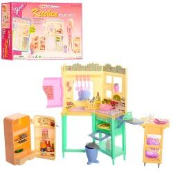 Мебель 21016 кухня, мойка, плита, холодильник, продукты, посуда, в кор-ке, 31,5-21-6см