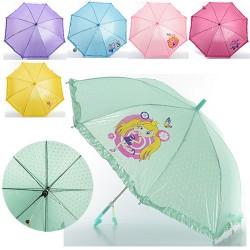 Зонтик детский MK 0208-1 длина55см, трость66см,диам.85см,спица49см,ткань,рисун,6видов