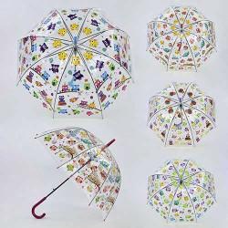 Зонтик детский C 31626 4 вида, 80см, глубокий купол