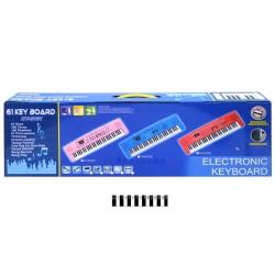 Піаніно з мікрофоном і зарядкою (коробка) 6101A р.81*25*10см