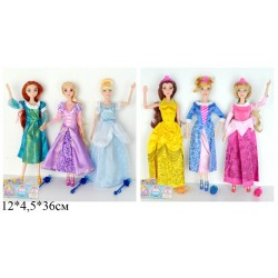 Кукла 34см BLD046/BLD046-1 сказочная принцесса 6в.кул.12*4,5*36