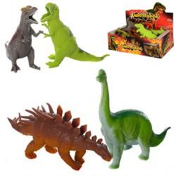 Животные резиновые 7211 Динозавры, 6 видов, 12 шт в боксе,в кор. 28*15*9 см