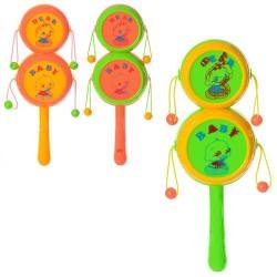 Погремушка 555 (3 цвета, в кульке, 18-6-3см