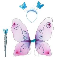 Крылья карнавальные 6228 обруч, волш.палочка, 1цвет,в кульке, 42-39-2см