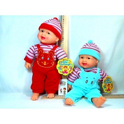 Кукла X 2418-2  хохотун, 2 цвета, в кульке, 42см