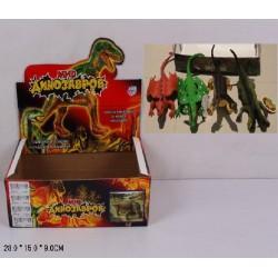 Животные динозавр резиновые 7208 28*15*9см