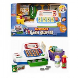 Кассовый аппарат 30261 калькулятор,продукты,корзинка, деньги,зв,на бат-ке,кор-ке,30,5-18-17см