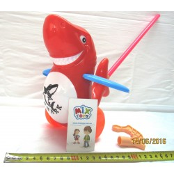 Каталка акула 986-9 (на палке в пакете 23-24см)
