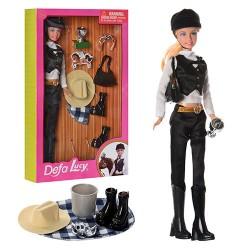 Кукла DEFA 8289 (30см, шляпа, сумочка, кубок, обувь, корона, в кор-ке, 20-33-5,5см