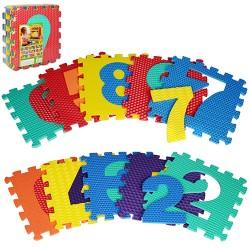 Коврик Мозаика M 2608 (EVA,цифры,10дет(10мм,31,5-31,5см),массажн,6текстур,пазл,31,5-31,5-10см