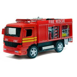 KS Машина метал. KINSFUN KS 5110 W инер-я,пожарная машинка,12,5-5-4,5см, в кор-ке,15-12,5-5,5см