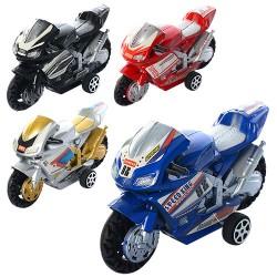 Мотоцикл 66-1  инер-й, 9,5см, 4вида, в кульке, 9,5-5,5-3,5см