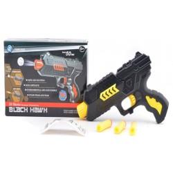 Пистолет M02+ пороллон снар+гел пульки, в кор 21*14*4см