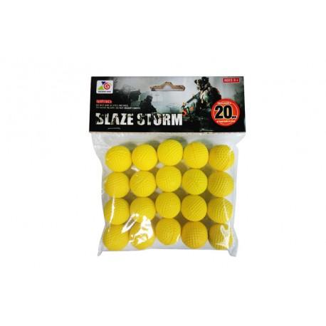 Пульки для помпового оружия ZC05 в виде шара-пены для бластеров,20шт,в пакете 19*15*4см