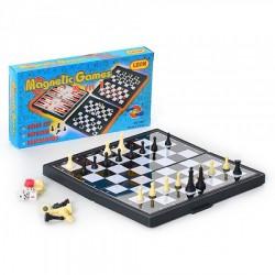 Шахматы 3 в 1, 3831 в кор-ке, 20,5-11-3см)