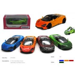 KT Машинка метал.KT5403WG McLaren MSO 720S Gradient метал.инерц.откр.дв.4цв.кор./