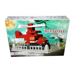 """Конструктор """"Вертоліт"""" 56 детал. 013888/15 в картонній коробці 25х35 см,"""
