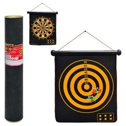 Дартс MS 0100  15 дюймов,магнитный,дротики с магнитом6шт,размер поля45-37см,двухстор,в тубусе