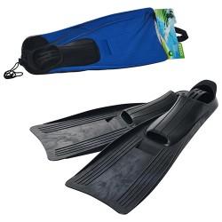 Ласты 55934 (6шт) размер M(24-26см),ботинок из термопластика,2цвета(синий,черный),в сетке,20-63-15см