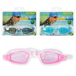 Очки для плавания 55682 (12шт) защита от УФ-лучей,регул ремешок,от 8 лет,3цвета,в слюде,19,5-16-4см