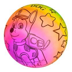 Мяч детский MS 1928 (ЩП, радуга, рисунок, 70г, 25см, в кульке