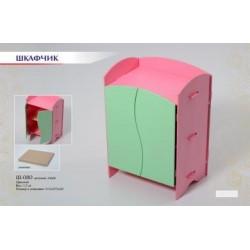 Шкафчик для кукольной одежды Цветной