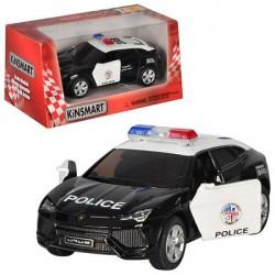 "Модель джип 5"" KT5368WP LAMBORGHINI URUS Police метал.инерц.откр.дв.1:38.кор."