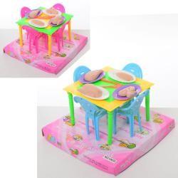 Столовая 10635 стол, стулья, продукты, 2цв, в слюде, 17-12-17см