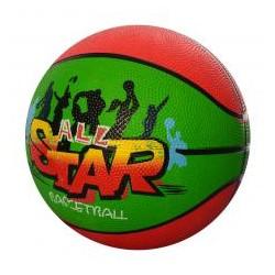 Мяч баскетбольный VA-0002 размер7,резина,8панел,550г,рисун-наклейка,