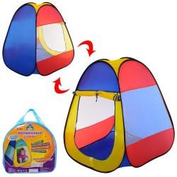 Палатка M 5747  пирамида80-80-90см, 1вход на липучке, окно-сетка 2шт, в сумке,36-33-5см