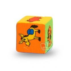 Кубик-погремушка.Животные