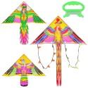 Воздушный змей M 1741 135-67см, 3 вида, в кульке, 93-9,5см