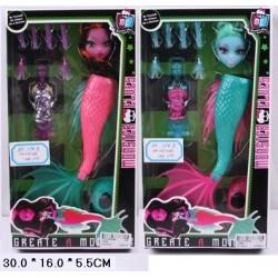 """Кукла """"Monster High """" в наборе 27см 1196A/B """"Создай монстра"""" русалка 2в.кор.16*5,5*30 ш"""